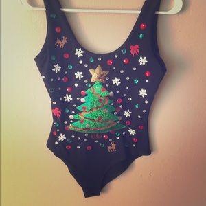Ugly Christmas bodysuit Tacky Xmas Bodysuit MEDIUM